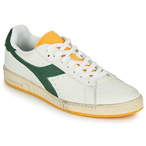 Diadora Scarpe Sneaker Uomo Modello Game L Low Icona 3 Colori (White/Greener Pastures - 44 EU)
