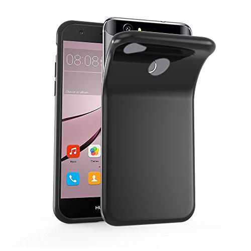 Preisvergleich Produktbild Cadorabo Hülle für Huawei NOVA in SCHWARZ - Handyhülle aus flexiblem TPU Silikon - Silikonhülle Schutzhülle Ultra Slim Soft Back Cover Case Bumper
