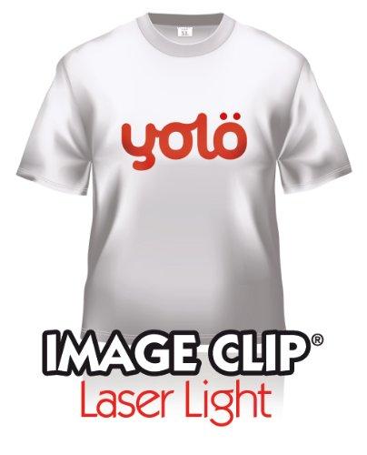 yolö creative 10 fogli di formato a4 di image transfer clip® laser light self-sarchiatura calore carta t-shirt/trasferimenti