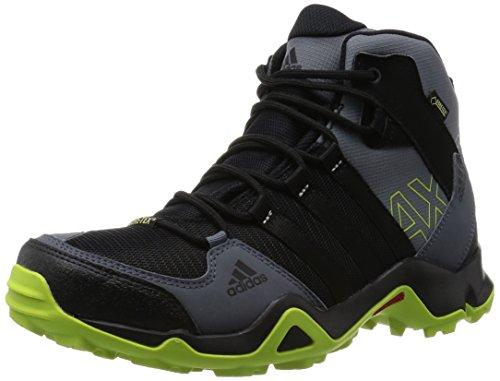 adidas Originals AX2 MID GTX Herren Trekking & Wanderstiefel, Schwarz (Core Black/Semi Solar Slime/Onix), 50 2/3 EU