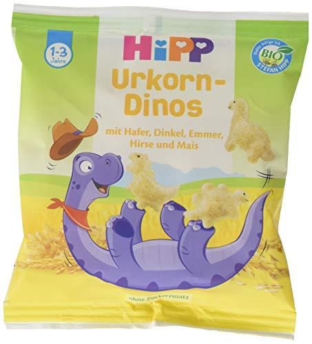 Hipp Bio Knabberprodukte Urkorn-Dinos, 9er Pack (9 x 30 g)