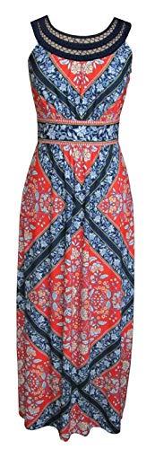 Sandra Darren Women's One Piece Sleeveless Printed Maxi Dress