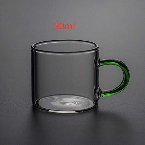 DIF glazen kopjes koffie mokken geschoten glas thee kopjes met handvat Whisky drank wijn mokken transparante hittebestendige drank
