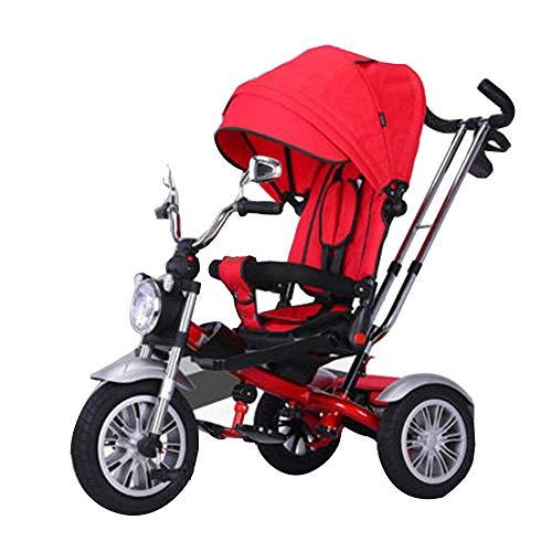 YumEIGE driewielers kinderen driewieler titanium wiel, driewielers niet-gelegeerd stalen frame met een gewicht van 80 kg, voor kinderen van 1 tot 6 met opbergmand