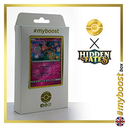 Mr. Mime 43/68 Holo Reverse - #myboost X Sun & Moon 11.5 Hidden Fates - Doos met 10 Pokemon Engelse kaarten