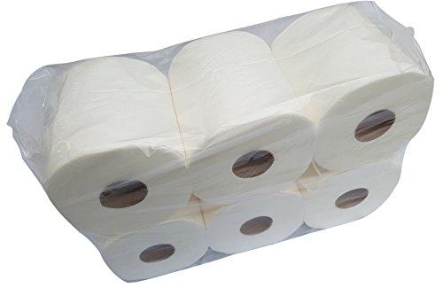 Papierhandtuchrolle 2-lagig Recycling 6 Rollen je Pack Durchmesser ca. 19 cm MIDI