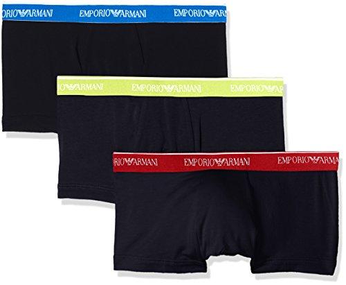 Emporio Armani Underwear Herren 1113578P717 Hipster, Blau (Marine 40035), Large (3er Pack)