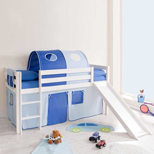 Pharao24 Kinderhochbett Dwayne mit Rutsche
