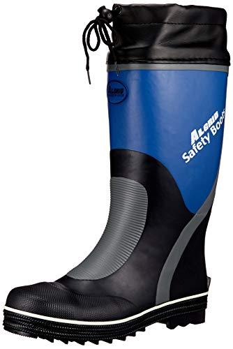 [コーコス信岡] 長靴 レインブーツ ALGRID セーフティーブーツ 靴底鉄板入り 踏抜き防止 先芯入り メンズ ネイビー 29 cm 3E