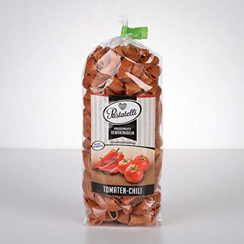 Pastatelli Scharfe Tomate-Chili-Nudeln ★ Chili-Gewürz-Nudeln Hot ★ 3000 Scoville ★ Vegan & Gesünder als Instant Ramen Nudeln ★ Geschenk für Scharfesser