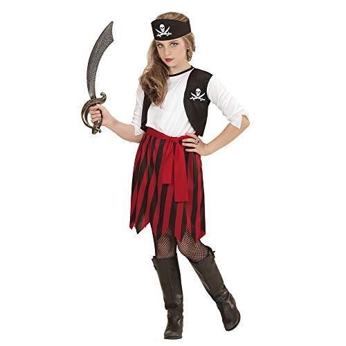 Widmann 07227 Kinderkostüm Piratin, 140 cm