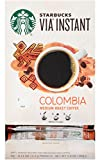 Starbucks Via Instant Colombia Medium Roast Coffee - 100% Arabica Instant & Microground Coffee - 50 CT Packets