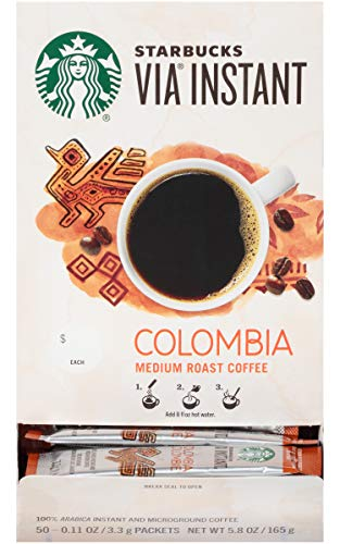 Starbucks Via Instant Colombia (Pack of 50)