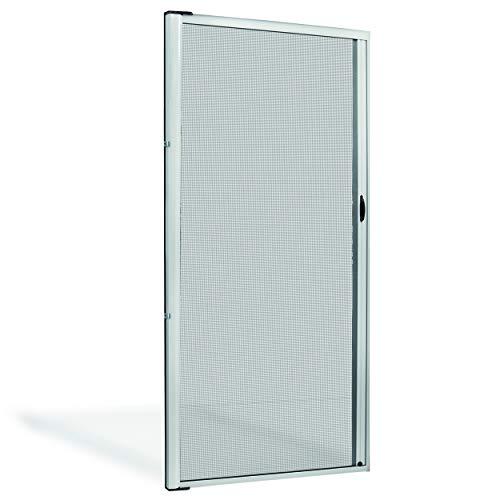Zanzariera Porta Finestra A Rullo Scorrevole Con Frizione In Alluminio Facilmente Accorciabile Zanzariere Fai Da Te (150x250, Bianco)
