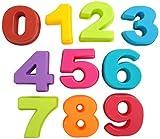 Bekith Moldes de silicona para hornear de 0 a 9 números árabes pequeños para cumpleaños, bodas y fiestas (8,9 x 7,6 x 2,5 cm)