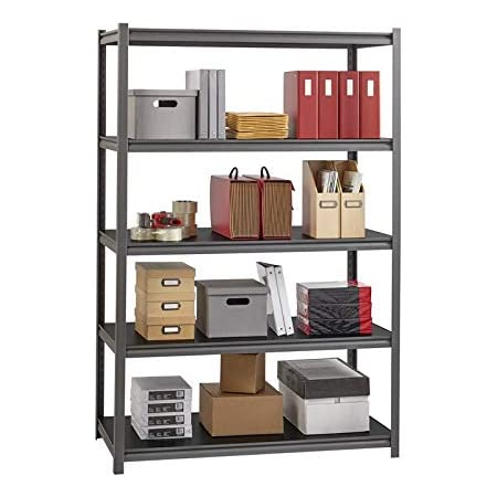 Hirsh 3 200 Lb Capacity Iron Horse Shelving 5 Compartment S 72 Height X 48 Width X 24 Depth Office Products