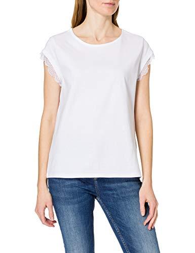 edc by Esprit 031cc1k335 T-Shirt, 100/bianco, XL Donna