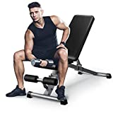 GOXIFAC Adjustable Weight Bench - Fitness Folding Weight Benches for Home Gym Exercises