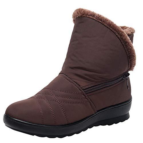 MYMYG Damen Schneestiefel Winter Wasserdichte Short Schneeschuhe Schuhe warme Schuhe Schlüpfen...
