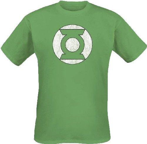 Green Lantern Logo Camiseta, Verde, XXL para Hombre