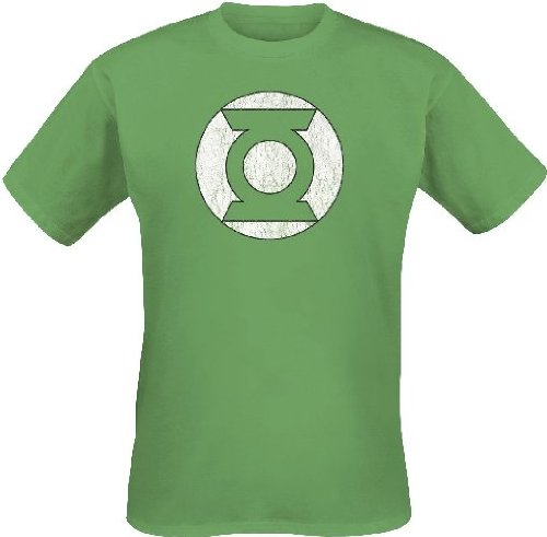 Green Lantern Logo T-Shirt, Vert, Large (Taille Fabricant: L) Homme