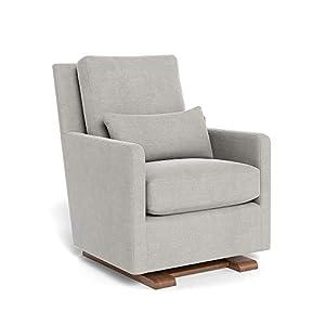 Monte Design Upholstered Modern Nursery Como Glider Chair, Smoke