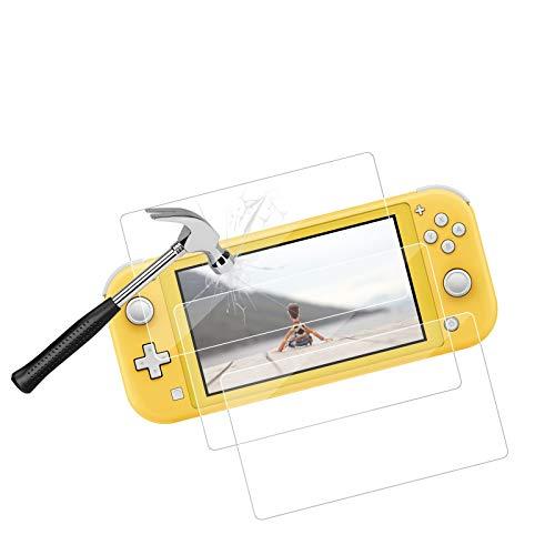 【3 Piezas】Protector de Pantalla para Nintendo Switch Lite, Cristal Templado, Dureza 9H, HD Clear, Antiarañazos & Antiaceite para Nintendo Switch Lite - Transparente
