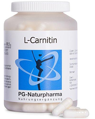L-Carnitin Kapseln - 160 Kapseln - 1000mg reines L-Carnitin pro Tagesdosis - eine Kapsel je 500 mg L-Carnitin Tartrat, hochdosiert, aus Deutschland