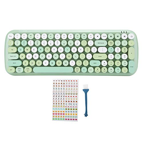 Multi‑Device Keyboard, Bluetooth 5.1 Wireless Keyboard, for Laptop Mobile Phone Tablet, for Win, for Android, for ios and other systems(green)