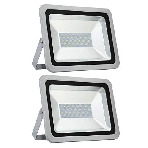 BUKEHANWEI 150W llevó el Reflector Super Brillante Impermeable IP65 15000lm Faro de Luces de Seguridad al Aire Libre 6500K LED Foco de la Yarda del jardín Garajes Almacén Patio,150W-2 Pack