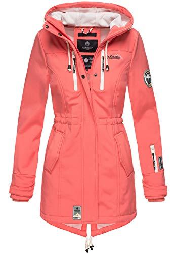 Marikoo Damen Winter Jacke Winterjacke Mantel Outdoor wasserabweisend Softshell B614 [B614-Zimt-Coral-Gr.L]