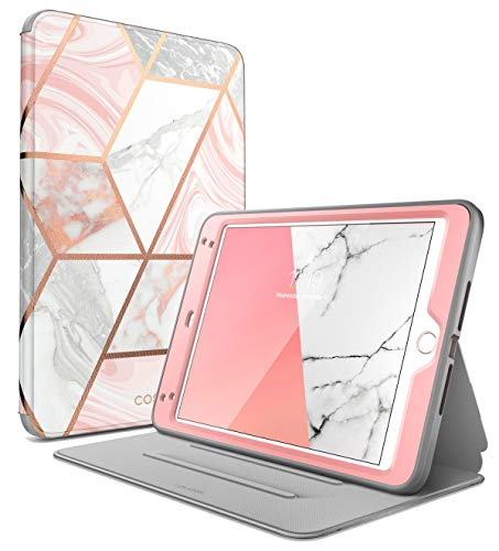 i-Blason Cosmo Case for iPad Mini 5 2019 / iPad Mini 4, [Built-in Screen Protector] Full-Body Folding Stand Protective Case Cover with Auto Sleep/Wake, Marble, 7.9'