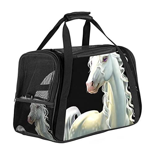 Bonita bolsa de transporte de unicornio de elefante, portátil, apertura superior, alfombrilla extraíble y malla transpirable, bolsa de transporte para perros y gatos