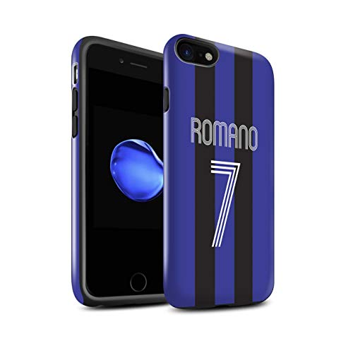 Stuff4 Telefoonhoesje/Cover/Skin/IP-3DTBG / Aangepaste Euro Football Club Shirt Kit Collectie Apple iPhone SE 2020 Blauwe zwarte strepen