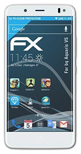 atFolix Schutzfolie kompatibel mit bq Aquaris VS Folie, ultraklare FX Bildschirmschutzfolie (3X)