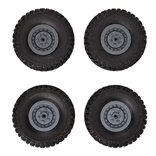 Neumáticos del Coche de RC, Rueda Negra del Coche de RC, Juguete de RC del Juguete del Coche de RC 1/16 para el Coche de RC Modelo de RC