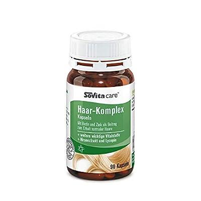 Haar-Komplex Kapseln   Mit Biotin und Zink als Beitrag zum Erhalt normaler Haare   Nahrungsergänzungsmittel   90 Kapseln