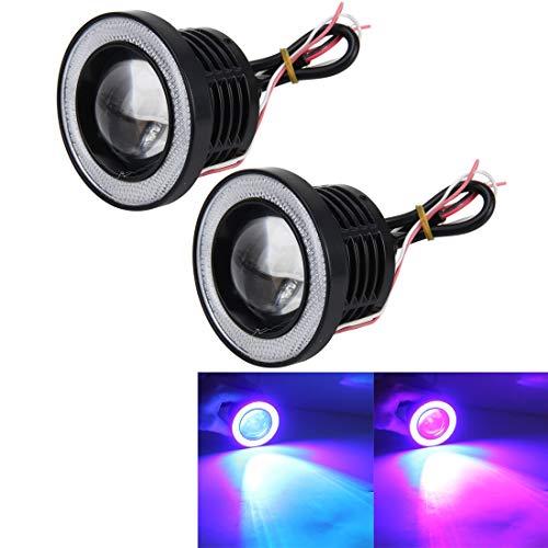 Accesorios exteriores para automóviles 2 PCS Universal 3inch LED niebla Angel Eyes R500 Lámparas LED de alta intensidad Lámparas Luz de niebla Halo Angel Ojos Anillos Lámpara de niebla IP65 Impermeabl