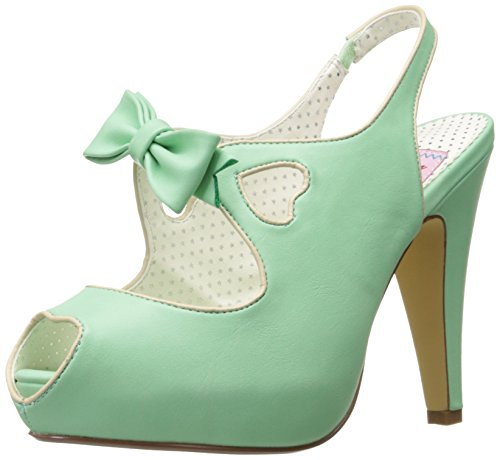 Pin Up Couture BETTIE-03 Mint Faux Leather UK 8 (EU 41)