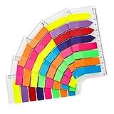 lovingmona Haftmarker Transparent Bunt Haftnotizen Plastik Index Tabs 960 Stück