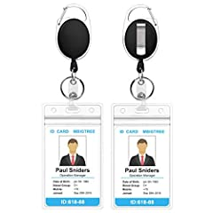 【Top Quality】 Upgraded and reinforced construction makes the most solid and durable retractable badge holder of this kind on the market. we're different in all of these products that look the same! 【Stronger Badge Reel】 Using DuPont KEVLAR CORD that ...