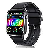 Judneer Smartwatch Hombre, 1.4'' Reloj Inteligente IP68 Impermeable, Pulsera Pantalla Táctil Completa con Monitor de Sueño Contador de Caloría Pulsómetros Podómetro para Smart Watch Android y iOS