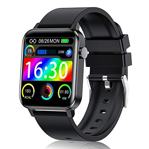 Judneer Smartwatch, Orologio Fitness con 1.4 Pollici Touchscreen a Colori Smart Watch, Impermeabile IP68 Cardiofrequenzimetro Smartband Contapassi, Sportivo Activity Tracker Cronometro per Uomo Donna