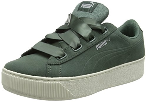 PUMA Damen Vikky Platform Ribbon S Sneaker, Grau (Laurel Wreath-Laurel Wreath), 42 EU