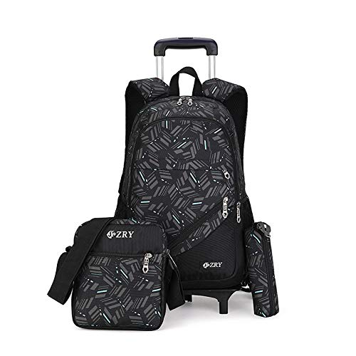 Meetbelify 3pcs Kids Rolling Backpacks Luggage Six Wheels Trolley School Bags