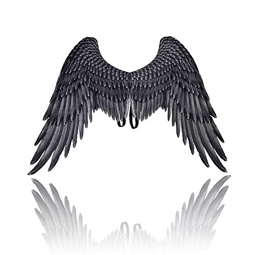 Romote Halloween Decration Schöne Engelsflügel Fee Flügel Kostüm 3D Engels-Flüge Cosplay Zubehör für Halloween-Weihnachtsfest Schwarz …