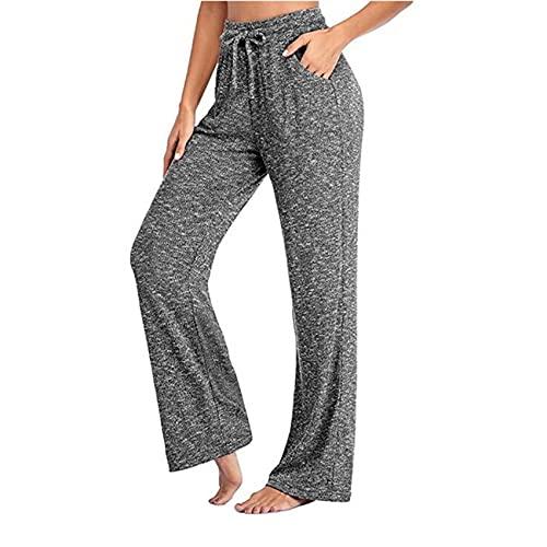 Pantalones Pantalones de Yoga para Mujer Pantalones Casuales Pantalones Anchos