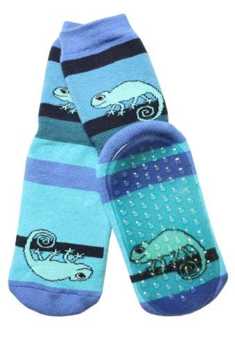 Weri Spezials Baby Voll-ABS Socke Chamealeon Motiv in Kornblau Gr.19-22 (12-24 Monate)