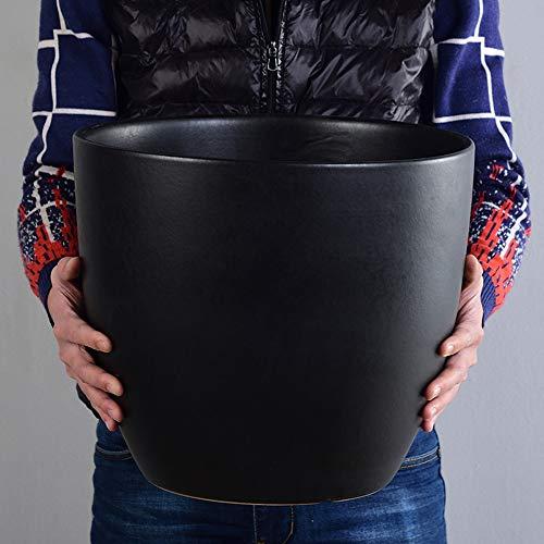 Fighrh Grand Moderne Rond en céramique Pot de Fleur Salon décoration succulente Pot Pot Cour Vert Plantation Arbre Fleurs planteur Nordique Simple Bureau Paysage Vase for Patio Balcon Jardin