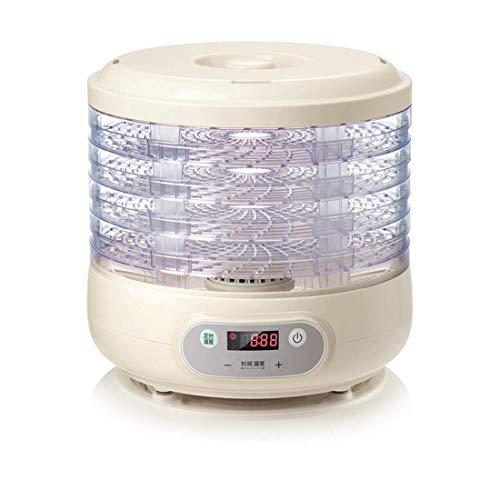 Lebensmittel Dehydrator 5 Tablett 35~70 ℃ Temperatureinstellung, max. 72 h, Obsttrockner Maschine Dehydrator Maschine für Obst, Gemüse